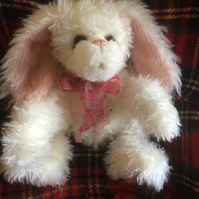 "LUNA - A Beautiful Hand Sewn, Collectable, Artist Bunny Bear 22"" Tall"