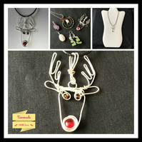 Festive Rudolph Reindeer Necklace