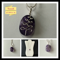 Amethyst Oval Tree Necklace