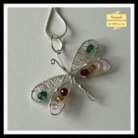 Beautiful Hand Wrapped Dragonfly Necklace