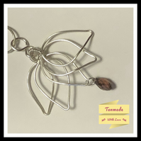 Beautiful Hand Wrapped Lotus Flower Necklace