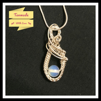 Small Opalite Silver Plated Copper Necklace