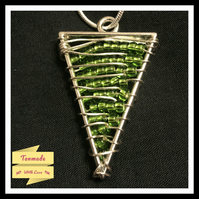 Beaded Triangular Necklace