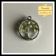 Green Apple Tree Of Life Necklace