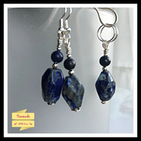Stunning Handmade Sodalite & Lapis Lazuli Necklace and Earrings Gift Set