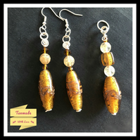 Stunning Citrine and Amber (colour) Earrings and Necklace Gift Set