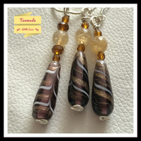 Shimmering Citrine & Multi-Beaded Earrings and Necklace Gift Set