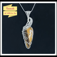 Unique Tiger's Eye Pendant