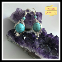 Pressed Turquoise Earrings