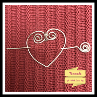 Simple Heart Shaped Shawl Pin