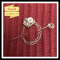 Wire-Wrapped Shawl Pin
