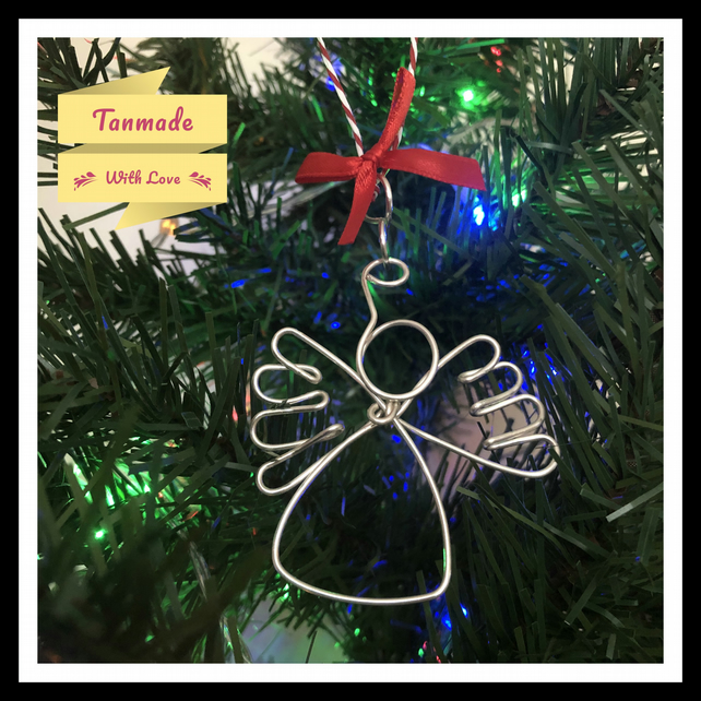 Silver Plated Copper, Handmade Christmas Tree Decoration  - Angel