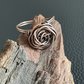 Stunning Patinated Copper Rose Ring - Size 9.5  (S and a half)
