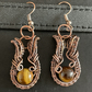 Tiger's Eye Copper Earrings