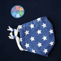 SMALL size. Recycled blue stars