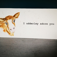 Card Cow -'I udderley adore you'