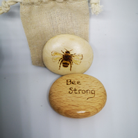 Wooden 'Treen' Pebble Bee