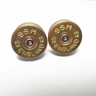 Aged Shotgun Cartridge Cufflinks - 12 Bore