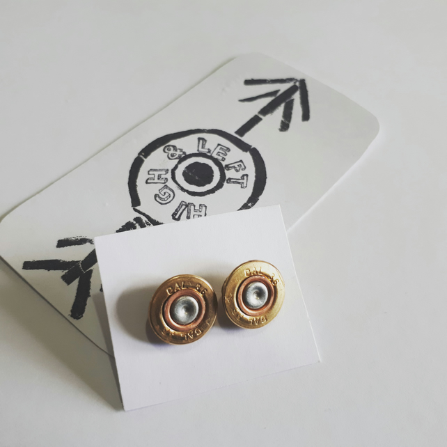 410 shotgun cartridge stud earrings