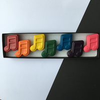Music Note Wax Crayons Set of 7