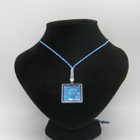 Silver alloy, Blue resin, Blue Star Glitter
