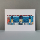 Watercolour Print of Manchester City Football Stadium