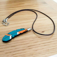 Kingfisher Wooden Pendant