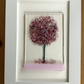 Pink tree picture in 6x4ins white frame