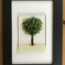Orange Tree picture in 6x4ins black frame