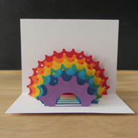 Rainbow Cog Pop Up Card