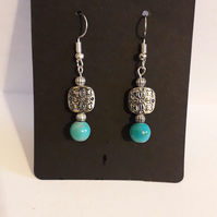 tibetan style dangle drop earrings