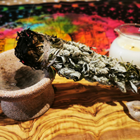 Medium mugwort smoke cleansing bundle