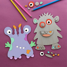 Monster DIY Craft Kit, Ideal Gift, Kids Room Decor, Letterbox Gift