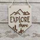 Explore More Wall Pennant, Wall Banner, Flag, Wall Decor, Sign, Wall Hanging