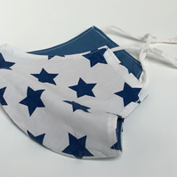 Large reusable double layered, washable and adjustable stars face mask