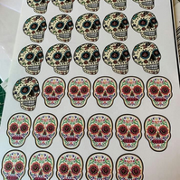 Candy skull stickers
