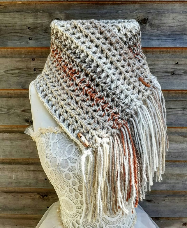 crochet cowl neck warmer