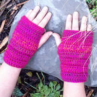 fingerless gloves crochet wear design