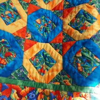 Bright Jungle Quilt