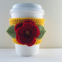 Reusable Floral Cup Cosy aka Cup Sleeve