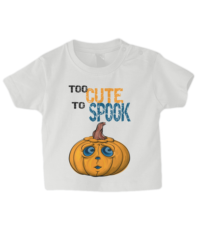 baby Halloween t shirt, too cute to spook baby top, baby t shirt, too cute
