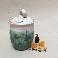 Lidded Storage Jar for Sugar, Dried Fruit, Nuts & many other things.