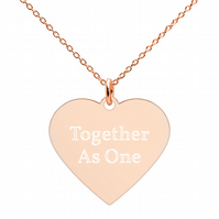 24k 18k Gold Rhodium Sterling Silver Engraved Heart Pendant Necklace Gold Chain