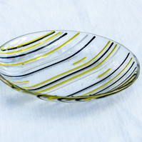 Glass stripy bowl