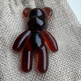 Brown Bear brooch made from pure resin