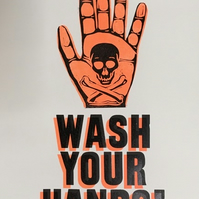 Wash Your Hands A3 Letterpress Print