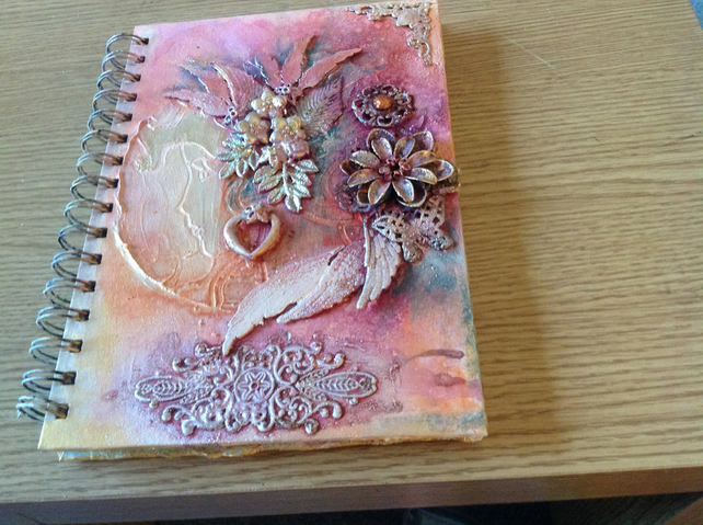 Mixed Media A5 Notebook with Lined Notepad