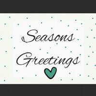 A5 Seasons Greetings Postcard