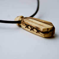 Carved Poison Bottle Necklace
