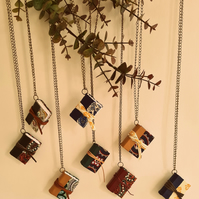 Minibook Necklace